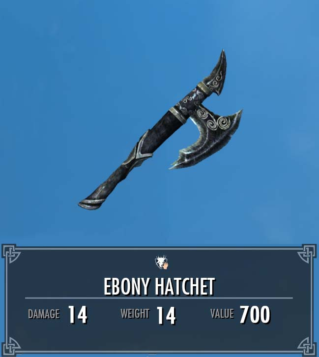 Ebony Hatchet
