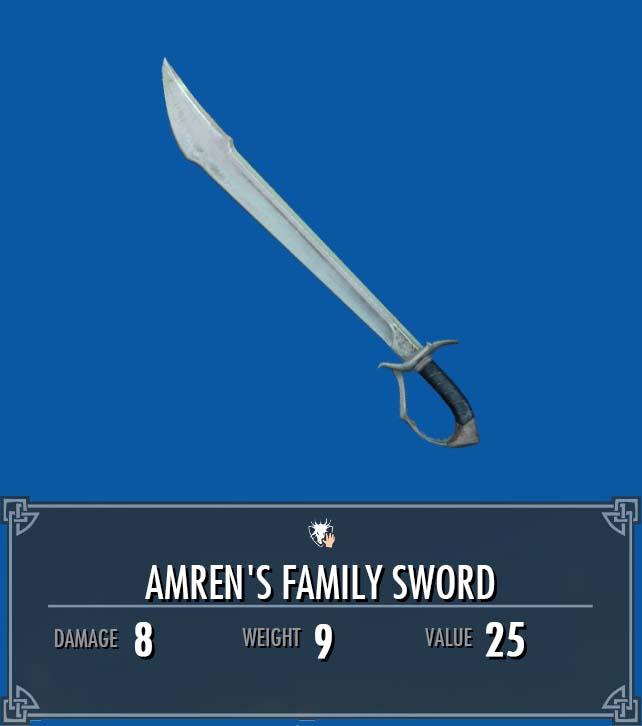 Amren's Family Sword