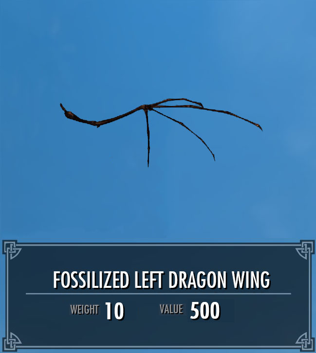 Fossilized Left Dragon Wing