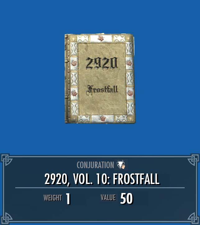 2920, Vol. 10: Frostfall