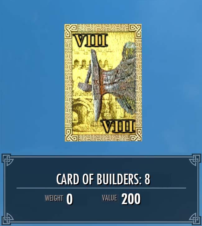 Card of Builders: 8