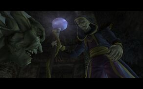Moebius used his staff to incapacitate Kain (Defiance).jpg