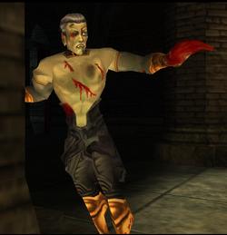 The injured Cabal Vampire in Blood Omen 2.