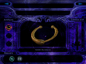 The Golden Ouroboros in the inventory