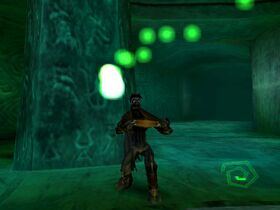 Raziel consuming a soul in Legacy of Kain: Soul Reaver