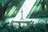 ALttP Sacred Grove & Master Sword Artwork.png