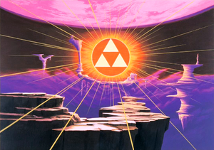 ALttp Manual Artwork Triforce & Sacred Realm.png