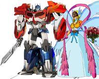 Angewomon and optimus wedding day