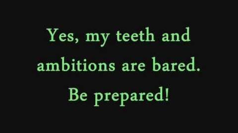 Be Prepared (Someone's plotting something)