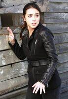 Skye Leather Sleeves Coat 61855 std