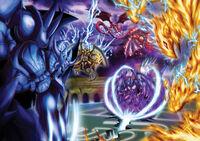 Divine Revelations Egyptian Gods vs Sacred Beasts Slifer the Sky Dragon The Winged Dragon of Ra Obelisk the Tormentor Uria Lord of Searing Flames Hamon Lord of Striking Thunder Raviel Lord of Phantasms