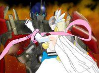Angewomon and optimus 3 wedding day