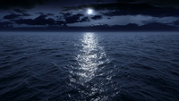 Flying-over-the-ocean-at-night-facing-the-moon-full-hd vyehd3p7g F0000