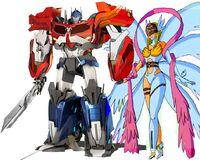 Angewomon and optimus