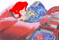 Emily kissing optimus
