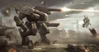Mech mecha giant robot concept art design gundam villain decepticon hunter drone transformers 2 3 4 movie sci fi wallpaper Mech Army by Twitchfinger