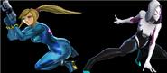 Samus and Spider Gwen
