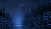 Anime-landscape-forest-night-stars-wolf-anime-1767