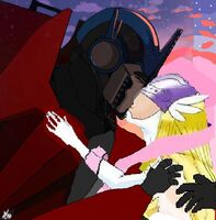 Angewomon and optimus kissing