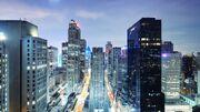 City skyscrapers night light road 62141 3840x2160