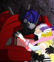Angewomon and optimus 2