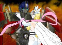 Angewomon and optimus 3