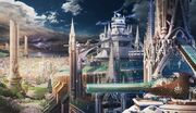 Clouds castles cityscapes fantasy art anime cities 3500x2022 wallpaper www.wallpapermay.com 66