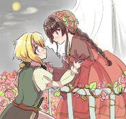 Kirika and Shirabe in Romeo and Juliet