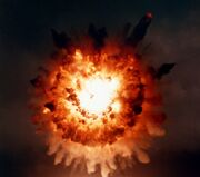 UGM-109 hits target on San Clemente Island 1986