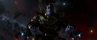 Thanos sitting on his throne