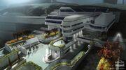 Halo 4 concept Artwork UNSC military base headquarters commandb center