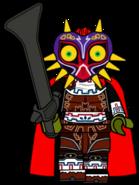 Ganondorf wearing Majora's Mask