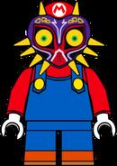 Mario wearing Majora's Mask