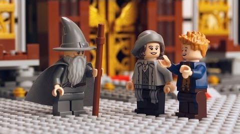 LEGO Dimensions Gandalf Meets Newt Scamander