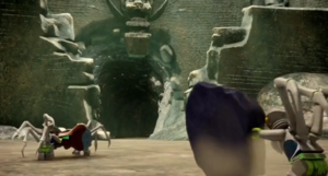 The Appearance of how the gate to Scorm's main throneroom looks like to the outside (taken as reference from the show, Speedors wouldn't be produced in the open like this!)