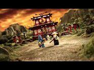 Lego Ninjago Fire Temple 2507 & Skull Truck 2506