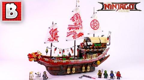 LEGO Ninjago Movie Destiny's Bounty 70618! Unbox Build Time Lapse Review