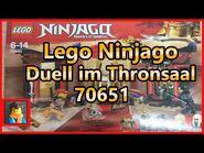Lego ® Ninjago Duell im Thronsaal 70651 Unboxing,Review und Fazit in deutsch-german