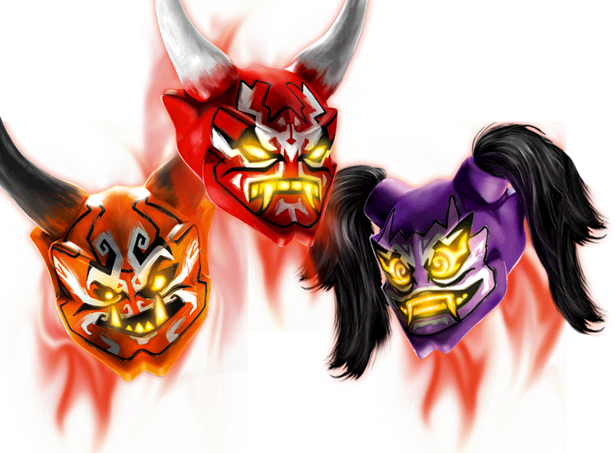 Oni Masken Lego Ninjago Wiki Fandom