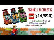 LEGO® Schnell und Günstig I Ninjago 71714, 71715 & 71716 Arcade Pod von Kai, Jay & Lloyd I Review