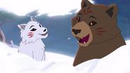 Akita und Kataru Wolf und Bär