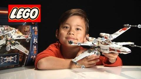 X-WING STARFIGHTER FIGHTER - LEGO Star Wars Set 9493 - Time-lapse Stop Motion Build, Review