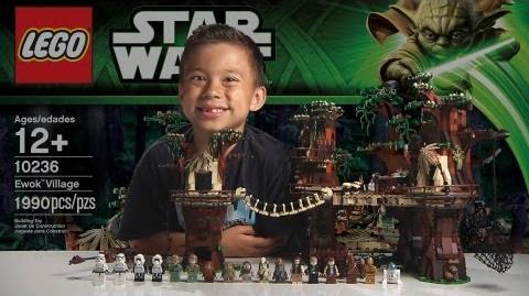 EWOK VILLAGE - LEGO Star Wars Set 10236 Time-lapse, Unboxing & Review