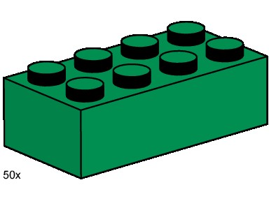 3461 2x4 Green Bricks