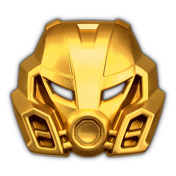 14k Gold Mask of Stone