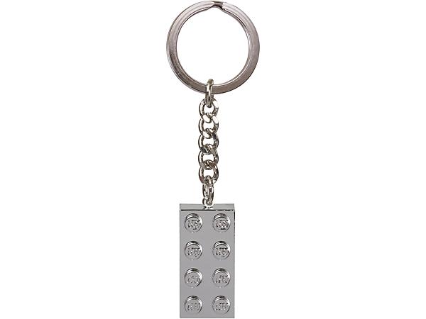 851406 Porte-clés Brique métallisée 2x4