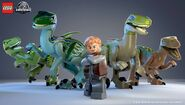 LEGO Owen and Raptor Squad
