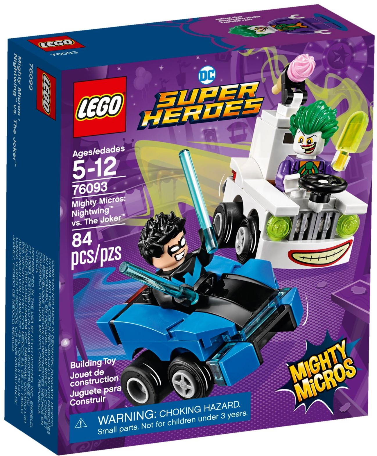 76093 Mighty Micros: Nightwing vs. The Joker