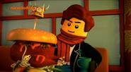 Jay with hamburger