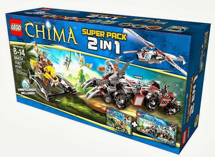 66474 Legends of Chima Super Pack 2 in 1